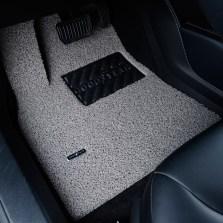 固特异飞足系列5座薄款丝圈三件套专车专用脚垫 17mm厚度【经典灰黑】