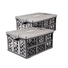 德国TAWA 车载折叠收纳箱 储物箱多功能整理置物盒【灰色*2个装】