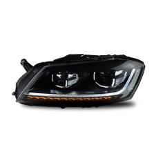 【免费安装】龙鼎12-16款迈腾B7款氙气大灯总成 改装双光透镜LED日行灯 带雪莱特球泡+雪莱特安定器【一对】