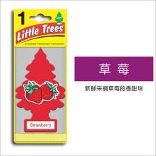 美国小树/Little Trees 汽车香片 香水挂件 除异味车载香水【草莓味】