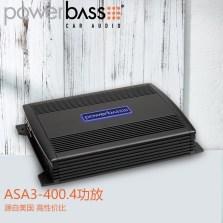 【免费安装】美国POWERBASS ASA3-400.4 车载AB类四声道功放 额定功率50瓦