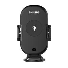 飞利浦 车载手机支架无线充电器+快充套装 出风口/吸盘两用
